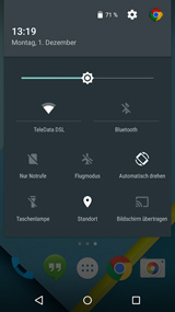 AndroidL feature quick settings