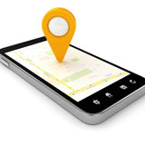 Smartphone mit Location Based Service App