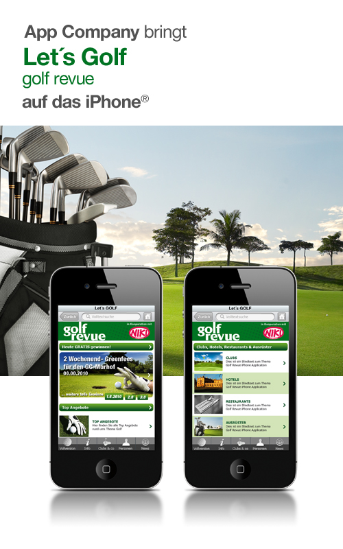 Let´s GOLF iPhone App