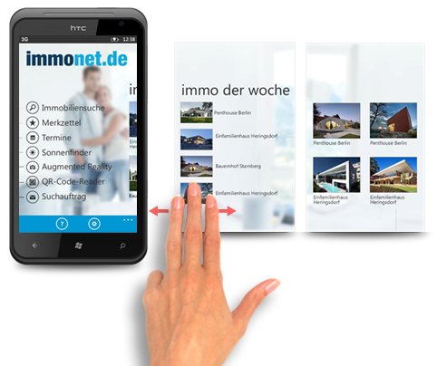 Immonet Windows Phone 7 App