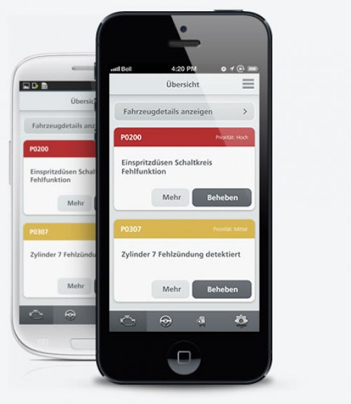 Automotive App für iPhone & Android