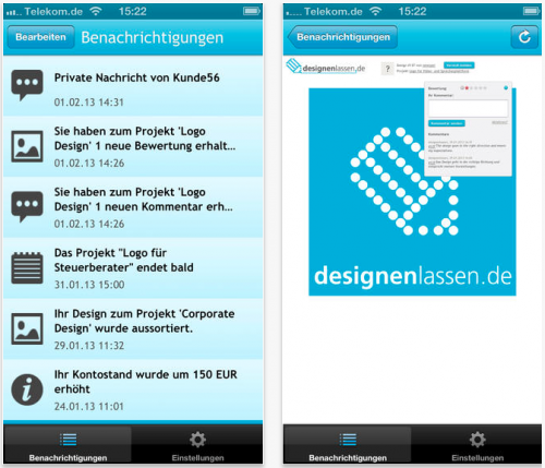 Designenlassen.de - iPhone / iPad App