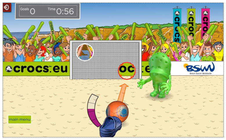 Crocs Beach Soccer Game App